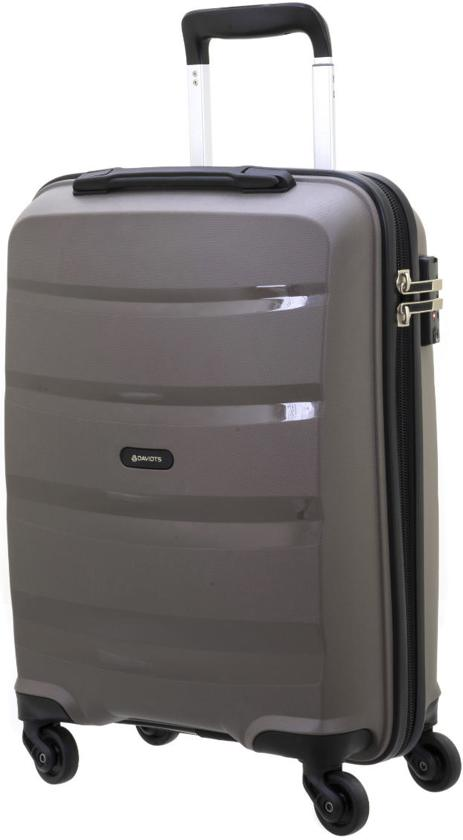 Davidt's Horizontal - Handbagage Koffer - 55 cm - warm grey