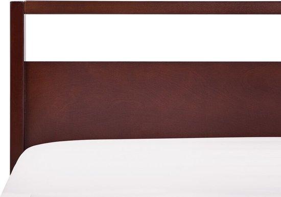 Beliani Giulia Bed Donker houtkleur Hout