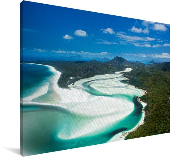 Zoetwaterrivier aan de rand van de Whitsundayeilanden Canvas 140x90 cm - Foto print op Canvas schilderij (Wanddecoratie woonkamer / slaapkamer)