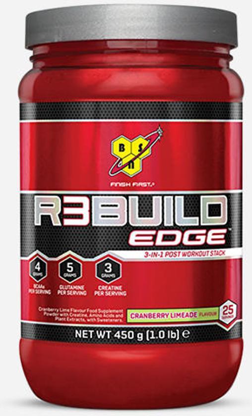 BSN - Rebuild Edge - BCAA - 450 gram / 25 doseringen - Strawberry & Orange