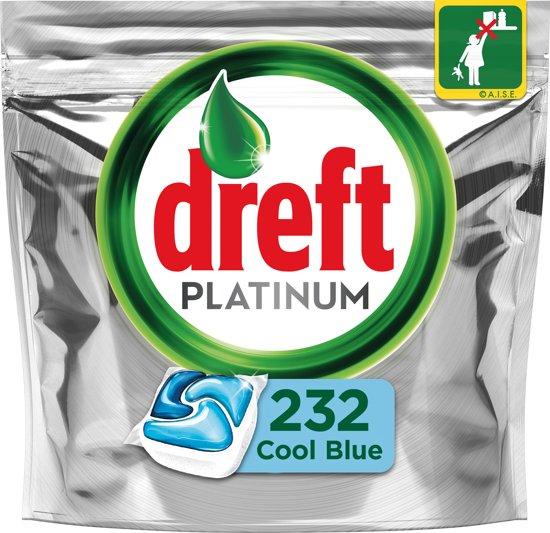 Dreft Platinum Blue - Megabox 4x58 Stuks - Vaatwastabletten
