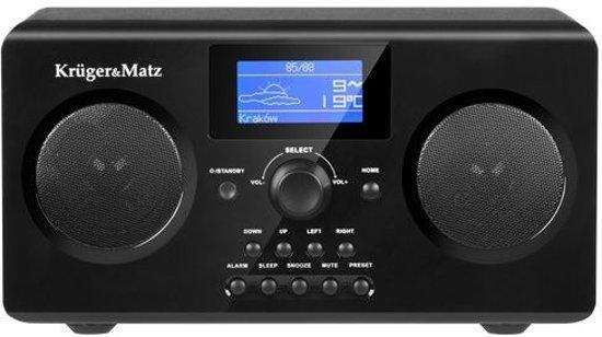Krüger&Matz KM0812-  Internetradio met FM - Wekker - AUX