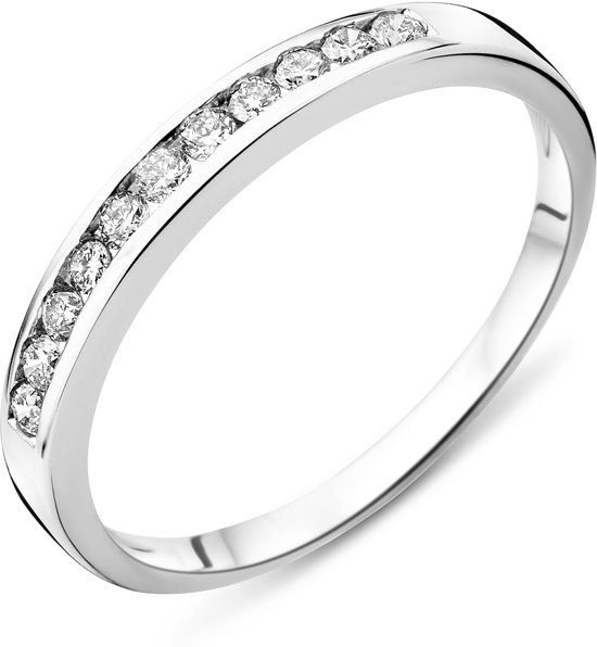 Majestine Eternity Ring 14 Karaat Witgoud (585) met Diamant 0.20ct maat 52