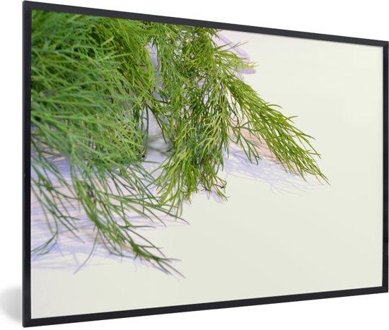 Foto in lijst - Verse dille van de venkel plant fotolijst zwart 60x40 cm - Poster in lijst (Wanddecoratie woonkamer / slaapkamer)