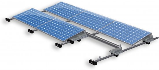 Zonnepanelen compleet pakket voor plat dak 2200W