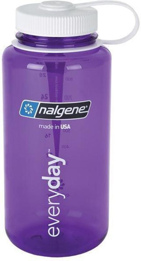 Nalgene Wide-Mouth Loop Top Fles - 1000 ml - Clear
