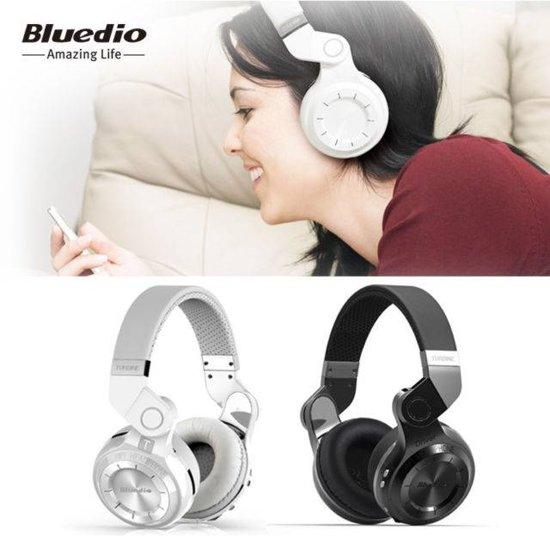 Bluedio T2 Draadloze hoofdtelefoon (Wit)
