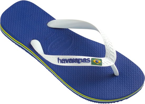43 Logo Blauw Brasil Unisex Slippers 44 Maat Havaianas 4O56nwYxqx