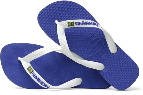 Brasil Blauw Maat Slippers Havaianas 43 Unisex 44 Logo vqXdI