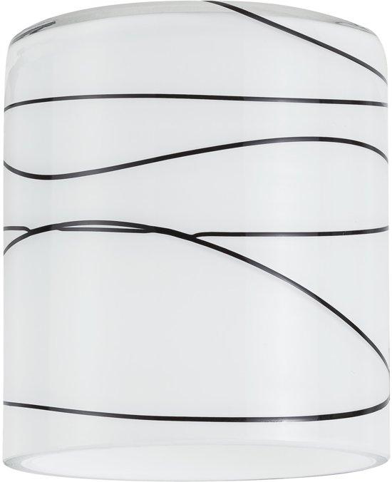 Paulmann DecoSystems kapje Zyli Glas wit/zwart 60053