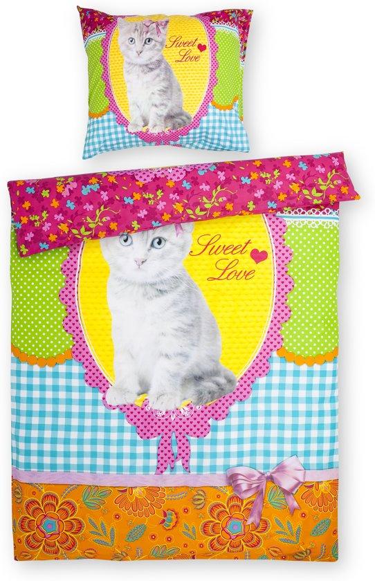 Day Dream Cat Miep - dekbedovertrek - eenpersoons - 140 x 200 - Multi