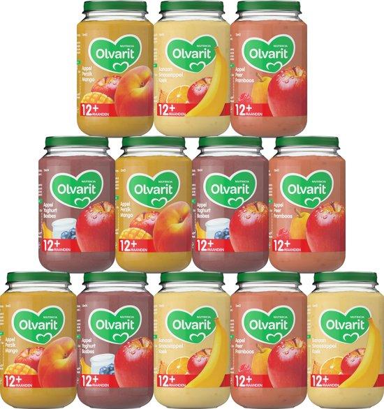 Olvarit Variatiemenu Fruit - 12 maanden - 12 stuks