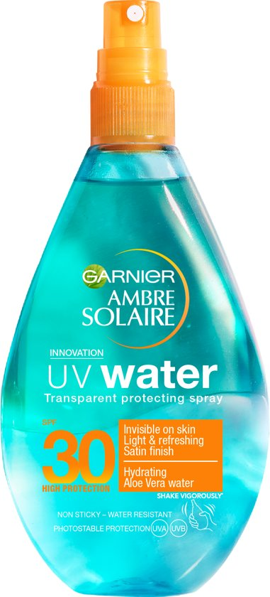 Garnier Ambre Solaire Transparant UV Water Zonnebrandspray SPF 30 - 150 ml
