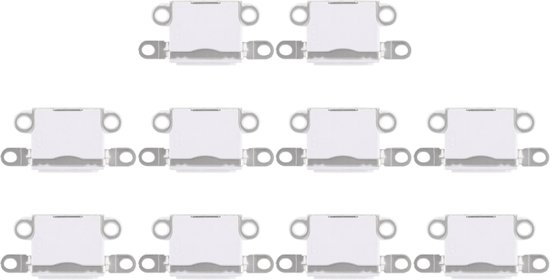 Let op type!! 10 PCS Charging Port Connector for iPhone 5 / 5S(White)