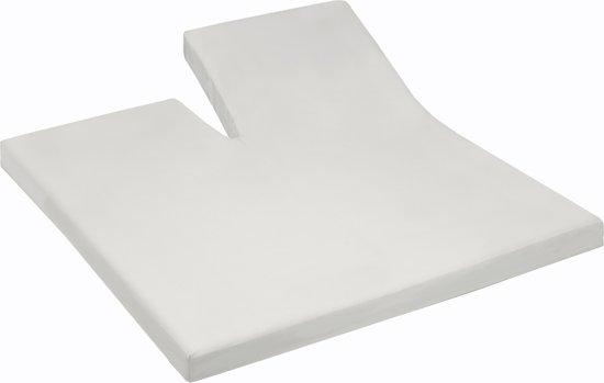 Damai - Hoeslaken split (tot 35 cm) - Katoen - 180 x 210 cm - Wool white