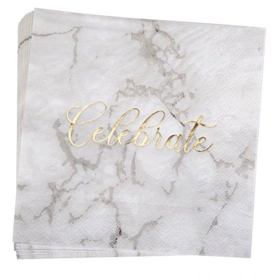Scripted Marble servetten (16 stuks) Valentinaa