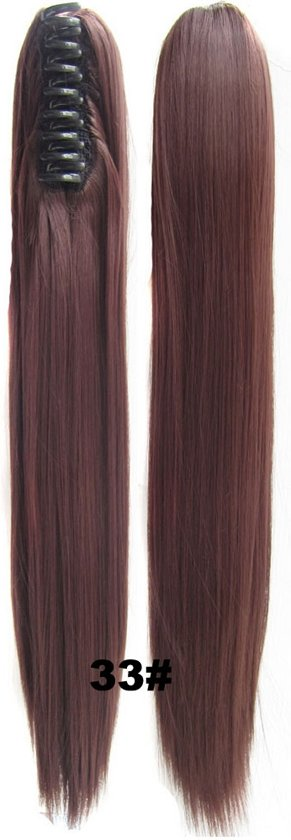 Brazilian Paardenstaart, Ponytail extensions straight – rood 33#