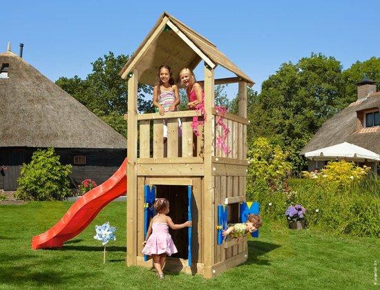 Speeltoestel Kleine Tuin : Bol.com jungle gym club playhouse 125 houten speeltoestel tuin