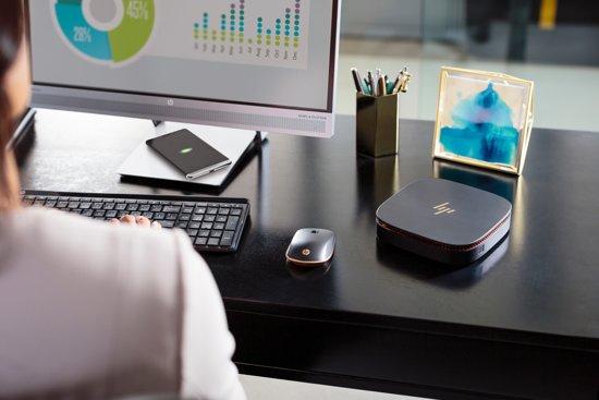 HP EliteDisplay S240uj 23.8'' Wide Quad HD LED Mat Flat Zwart, Zilver computer monitor