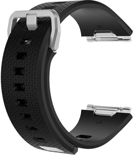 KELERINO. Siliconen Bandje voor Fitbit Ionic Gespsluiting - Zwart