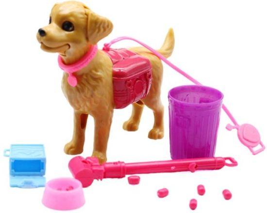 Voor de Pop | Hond voor Barbie | Honden speelset | Modepop accessoires | + Gratis kleding set