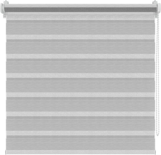 Roljaloezieën - Structuur wit/grijs - Lichtdoorlatend - 42x250 cm