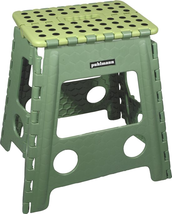 PUHLMANN - JAMES XL foldable stool GR, Foldable stool xl/plastic /green