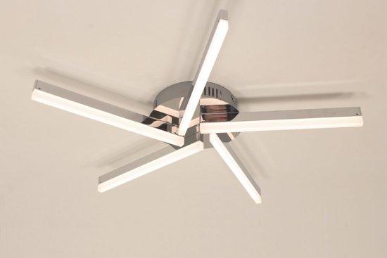 Bol plafondlamp rama chroom lichts led dimbaar