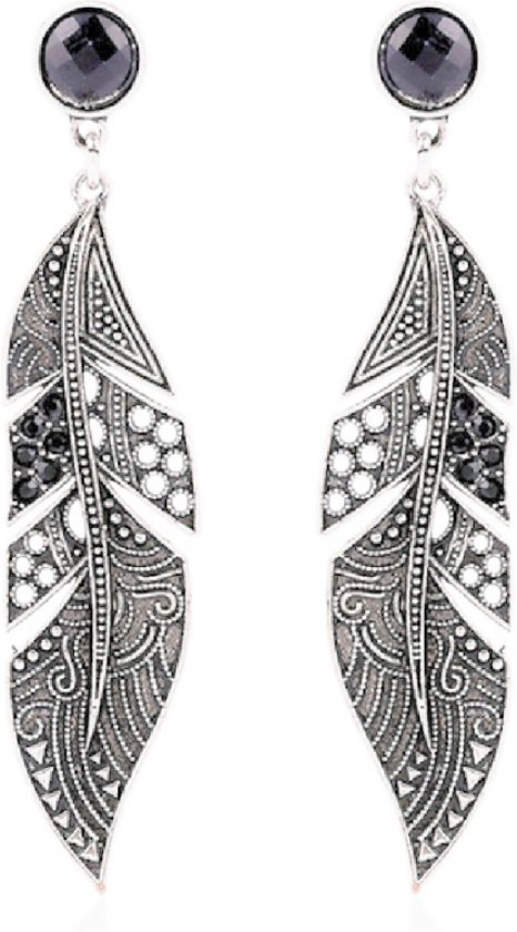 zwarte lange oorbellen