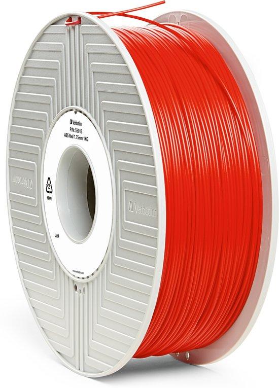 Verbatim 55013 3D Printer Filament ABS 1.75mm 1kg Rood