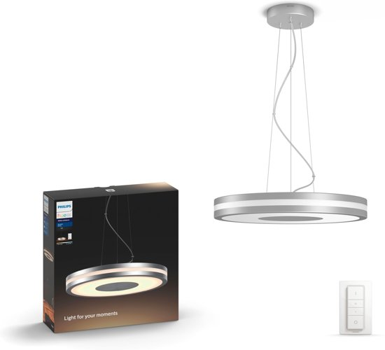 Philips Hue Being - Hanglamp - 1 Lichtpunt - aluminium - 1 x 3000lm - incl. dimmer switch
