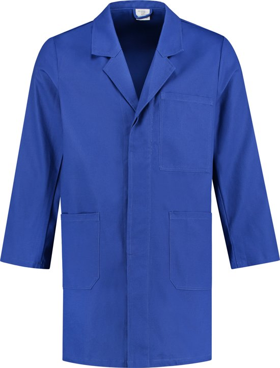 Yoworkwear Stofjas 100% katoen korenblauw maat M