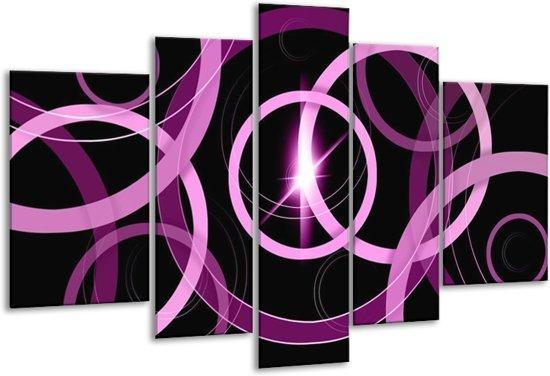 Glasschilderij Art | Paars, Zwart | 170x100cm 5Luik | Foto print op Glas |  F005575
