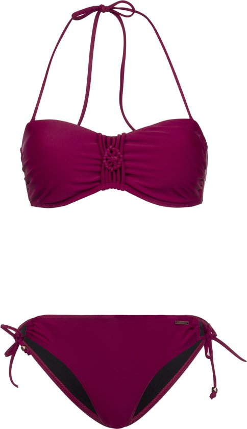 Soledo Protest Beet Bikini Bandeau 19 Red S36 Top Dames Maat mnvNy0wOP8