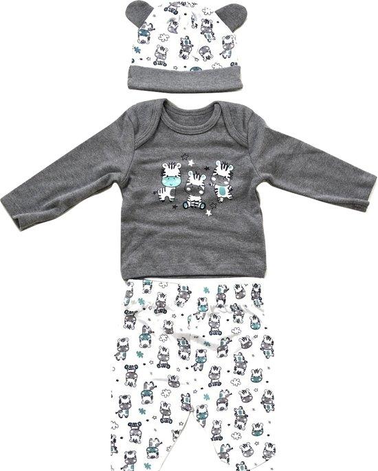 Baby geschenkset kraam bestaande uit mutsje, shirt en broek - 50|56