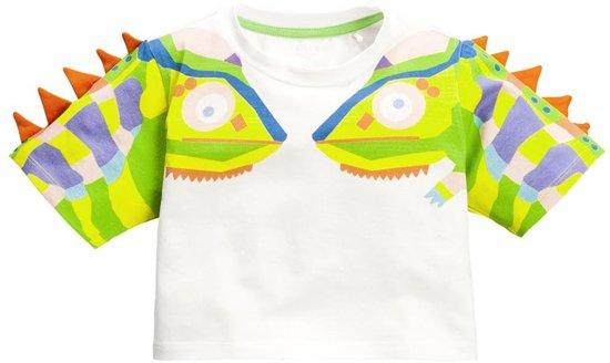 Meisjes katoenen jersey T-shirt Tameleon