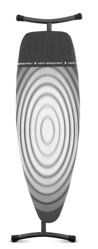Brabantia Strijkplank D met Hittebestendige Parkeerplaats - 135 x 45 cm - Titan Oval