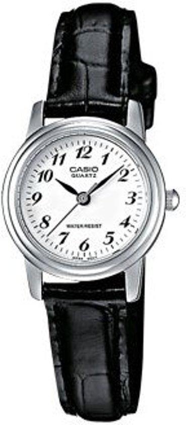 Casio LTP-1236PL-7BEF - Horloge - 24 mm - Leer - Zwart