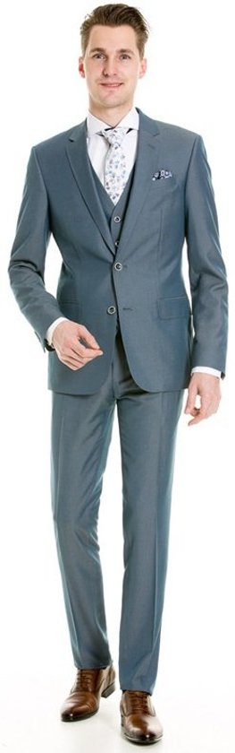 Henk ter Horst 3-delig kostuum blauw_56, maat 56