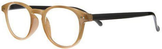 Icon Eyewear NCK003 Boston Leesbril +1.00 - Camel montuur, zwarte poten