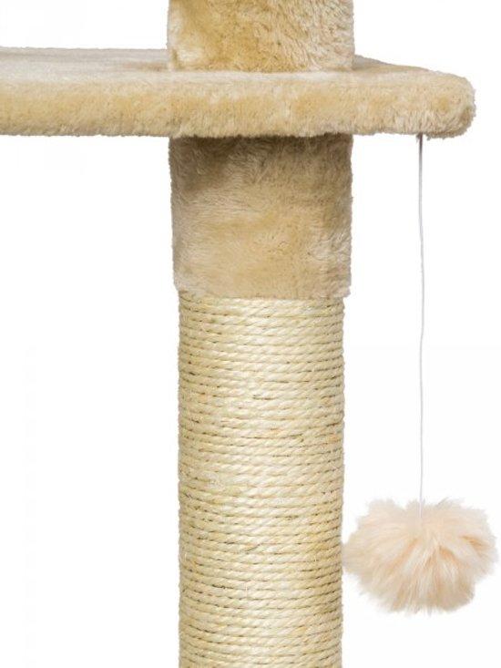 Krabpaal 240cm-260cm beige-wit kattenpaal 401639