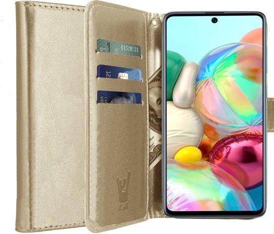 Samsung Galaxy A71 Hoesje - Book Case Leer Wallet - Goud