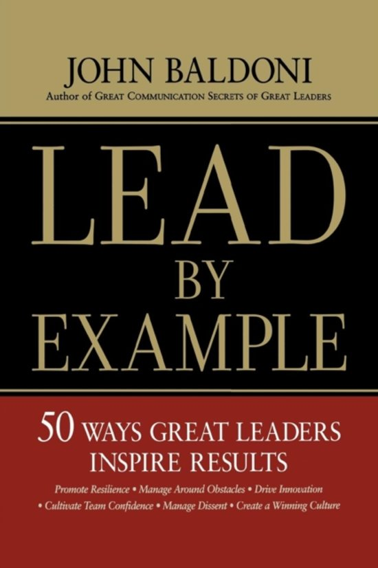 Bol Lead By Example 9780814437643 John Baldoni Boeken
