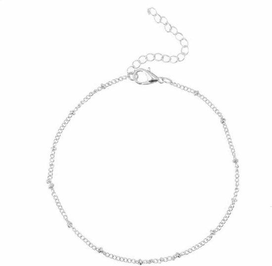Fako Bijoux® - Enkelbandje - Ringetjes - Zilverkleurig