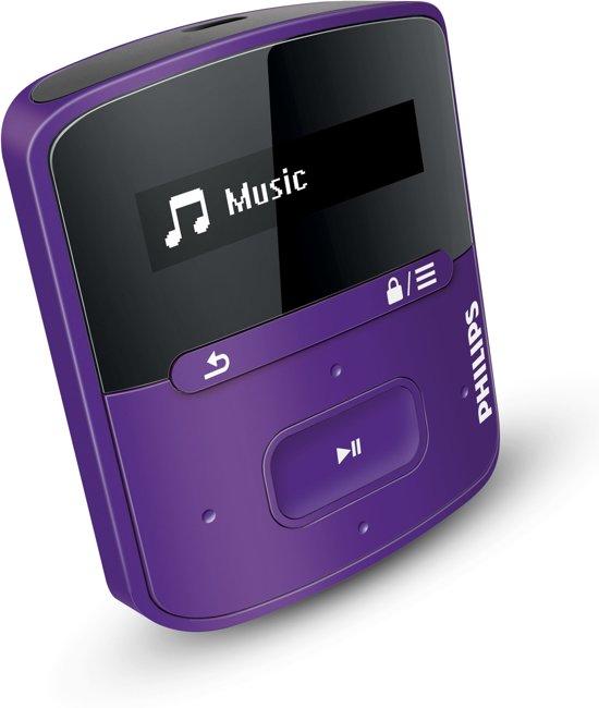 Philips GoGear Raga - MP3 speler - 2 GB - Paars