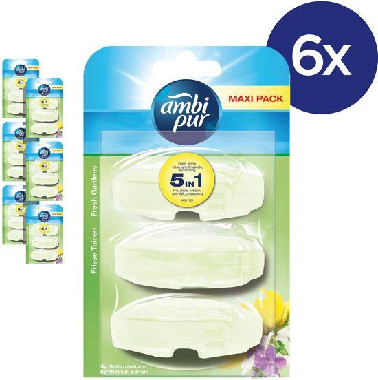 Ambi Pur Fresh Gardens Navulling - Voordeelverpakking 3x6 Stuks - Toiletblok