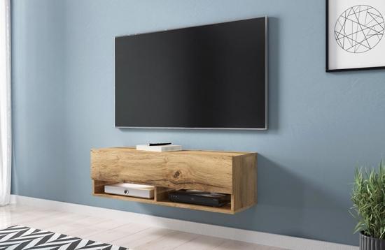 Zwevende Tv Meubel : Bol vdd hangend tv meubel wander smal model bruin hout