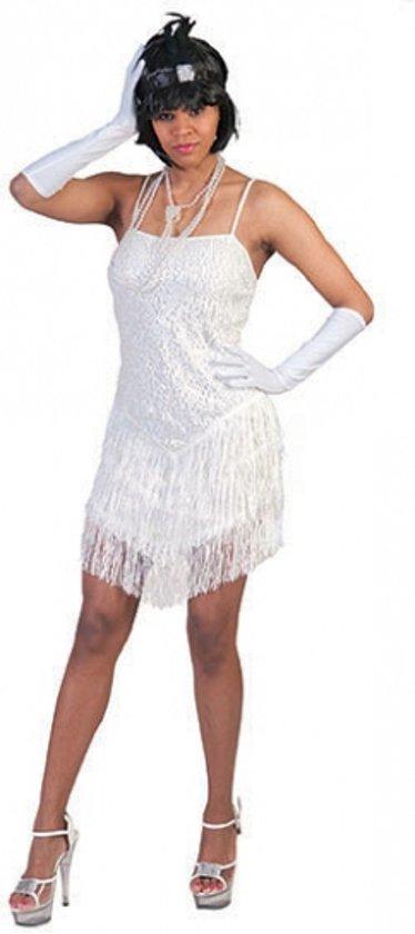 17f40bcaae1907 Wit charleston jurkje voor dames 36-38 (s m)