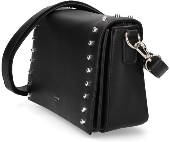 Crossbody ParisDaisy Jones Studs Zwart Met Leer Dames Vegan Tas David eEIbHYD9W2