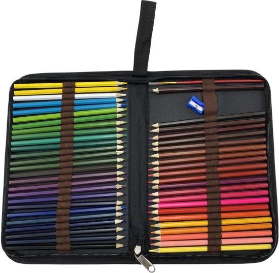 4artz® set van 48 aquarelpotloden in etui - met puntenslijper